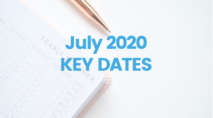 July 2020 Key Dates