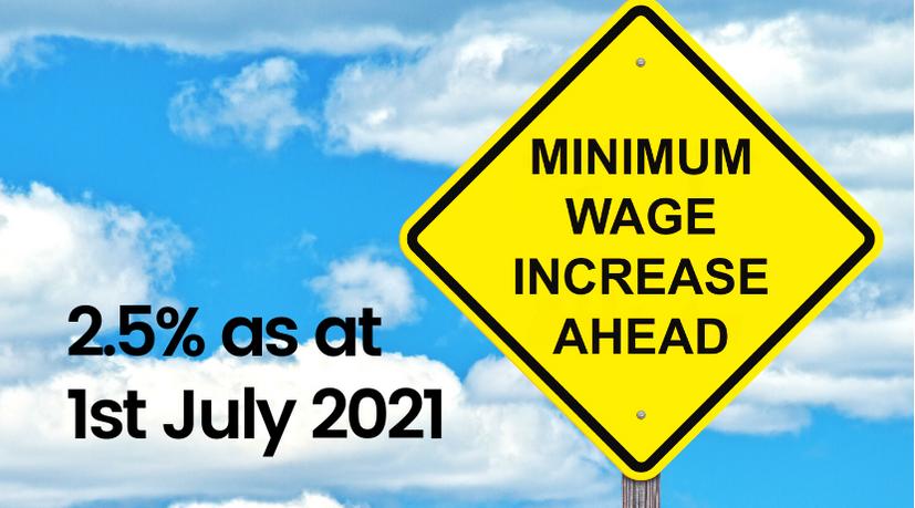 2.5% State Minimum Wage increase